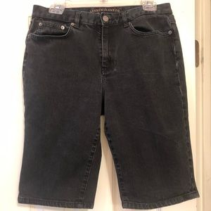 Ralph Lauren black denim long shorts